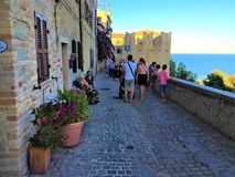 Free Torre Di Palme Town In Marche Region, Italy. People, Tourism And Sea Stock Image - 158868571