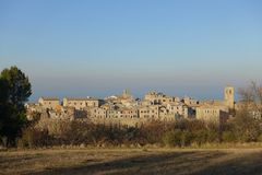 Torre di Palme view, medieval village, Fermo county, Marche region, Italy royalty free stock image
