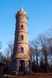 Torre di pietra dell'allerta sulla montagna di Jedlova Immagini Stock Libere da Diritti