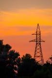 Torre di potere ad alta tensione Immagine Stock Libera da Diritti