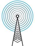Torre di radiodiffusione Immagini Stock Libere da Diritti