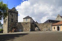 Torre di Rosenkrantz a Bergen, Norvegia Immagini Stock Libere da Diritti