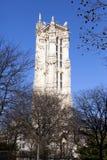 Torre di Saint-Jacques sulla via di Rivoli a Parigi, Francia fotografie stock