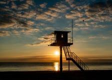 Torre di salvataggio - isola marina baltica di Usedom immagini stock