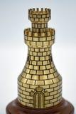 Torre di scacchi del metallo Fotografia Stock Libera da Diritti
