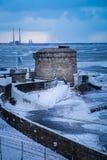 Torre di Seapoint Martello Contea Dublino l'irlanda Immagini Stock Libere da Diritti
