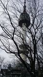 Torre di Seoul nell'inverno Fotografie Stock Libere da Diritti