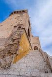Torre di Serranos a Valencia, Spagna Fotografia Stock