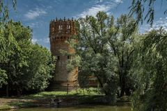 Torre di Setunskaya, convento di Novodevichy, Mosca Fotografia Stock