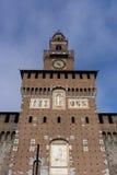 Torre di Sforzesco del castello Fotografia Stock Libera da Diritti