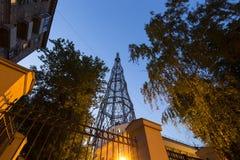 Torre di Shabolovka della torre radiofonica di Shukhov - è una torre di radiodiffusione a Mosca ha progettato da Vladimir Shukhov Fotografie Stock Libere da Diritti