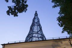 Torre di Shabolovka della torre radiofonica di Shukhov - è una torre di radiodiffusione a Mosca ha progettato da Vladimir Shukhov Immagini Stock Libere da Diritti