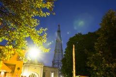 Torre di Shabolovka della torre radiofonica di Shukhov - è una torre di radiodiffusione a Mosca ha progettato da Vladimir Shukhov Immagini Stock