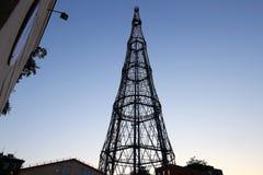 Torre di Shabolovka della torre radiofonica di Shukhov - è una torre di radiodiffusione a Mosca ha progettato da Vladimir Shukhov Fotografia Stock Libera da Diritti