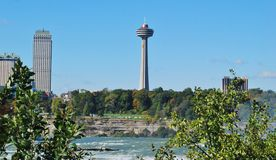 Torre di Skylon al cascate del Niagara Fotografia Stock Libera da Diritti