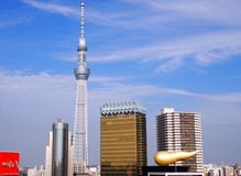 Torre di Skytree a Tokyo Giappone fotografie stock libere da diritti
