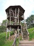 Torre di sorveglianza di legno, Lituania Immagine Stock