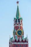 Torre di Spasskaya Frolov del Cremlino La Russia Fotografia Stock