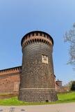 Torre di spirito del san del castello di Sforza (XV C ) a Milano, l'Italia Immagini Stock Libere da Diritti