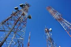 Torre di telecomunicazione Fotografia Stock Libera da Diritti
