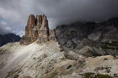 Torre Di Toblin, Dolomiet Stock Fotografie