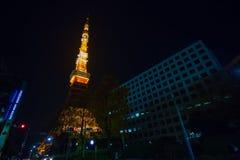 Torre di Tokyo nell'ambito di manutenzione Fotografie Stock Libere da Diritti