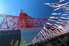 Torre di Tokyo un chiaro giorno di primavera Fotografia Stock