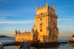 Torre di Torre de Belem, Lisbona Immagini Stock Libere da Diritti