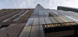 Torre di Trump, prospettiva imponente dal fotografia stock libera da diritti