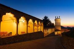 Torre di Udine, della loggia e di orologio Fotografie Stock Libere da Diritti