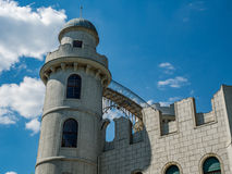 Torre di un castello romantico Fotografie Stock Libere da Diritti