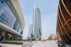 Torre di Unicredit in Milan Downtown Immagini Stock Libere da Diritti