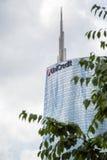 Torre di Unicredit a Milano Fotografia Stock