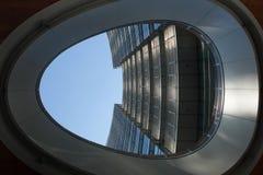 Torre di Unicredit nel distretto di Porta Nuova a Milano, Italia Fotografia Stock Libera da Diritti