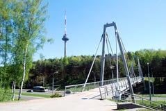 Torre di Vilnius TV - più alta costruzione della capitale lituana Fotografia Stock Libera da Diritti