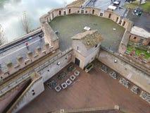 Torre difensiva di un castello fotografie stock libere da diritti
