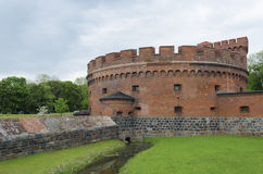 Torre difensiva Dohna a Kaliningrad (Koenigsberg) Immagine Stock Libera da Diritti