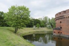 Torre difensiva Dohna a Kaliningrad (Koenigsberg) Fotografie Stock Libere da Diritti