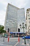 A torre do bastião de Servcorp e a estação de metro movem Namur em Bruxelas Foto de Stock