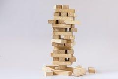 Torre do bloco de madeira Imagens de Stock Royalty Free