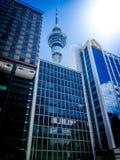 Torre do céu de Auckland imagens de stock