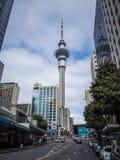 Torre do céu de Auckland, Nova Zelândia Fotos de Stock Royalty Free