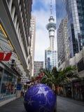 Torre do céu de Auckland, Nova Zelândia Imagens de Stock