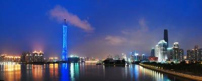 Torre do cantão na noite Imagens de Stock Royalty Free