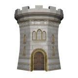 Torre do castelo - 3D rendem ilustração do vetor