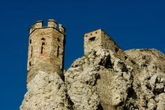 Torre do castelo de Devin Foto de Stock Royalty Free