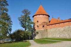 Torre do castelo de Trakai, Lithuania Fotos de Stock