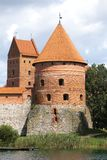 Torre do castelo de Trakai perto de Vilnius Fotos de Stock Royalty Free
