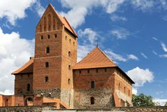 Torre do castelo de Trakai perto de Vilnius Foto de Stock Royalty Free