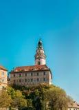 Torre do castelo em Cesky Krumlov, República Checa Imagem de Stock